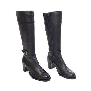 La Canadienne Black Leather Zip Up Riding Boots